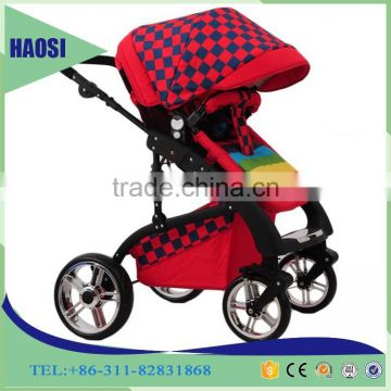 2016 Alibaba online hot sale baby car seat carriage 3 in 1 multi-functional baby stroller with Baby carry basket