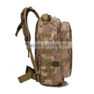 Outdoor tactical packet man backpack army camouflage backpack 3D movement backpack
