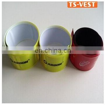 Hot sell promotional gifts irregular shape PVC reflective slap band