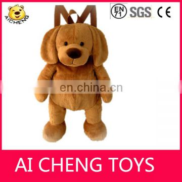 Cute 42cm plush animal shape dog backpack for sale CE testing