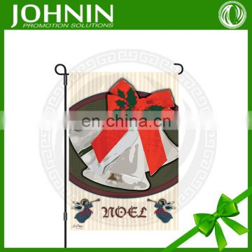 OEM Custom Christmas Holiday Birthday Party Garden Flag With Stand