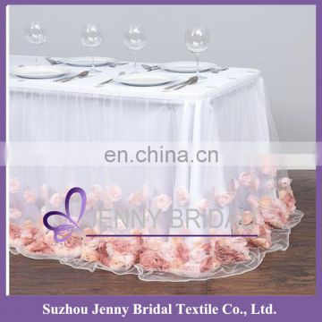 TC146E hawaiian table skirt images rosette table cloth indian skirts wholesale