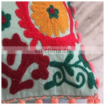Vintage Suzani Cushion Cover Embroidered 16x16'' Indian Pillow Case Decorative5