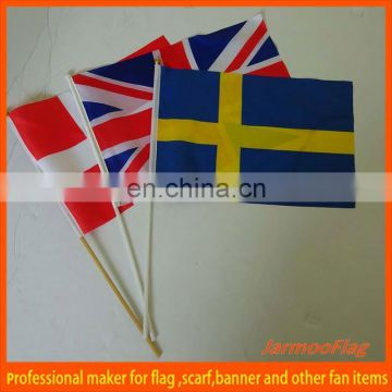 stick waving football team hand flag