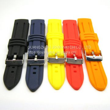 16 18 20 22 24 26 28 30mm Silicone Rubber Watch Band Strap OEM Supplier