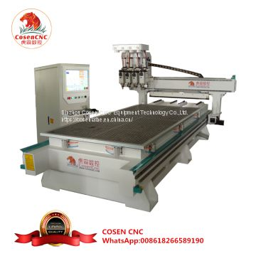 cosen cnc woodworking router engraving machine with four spindles