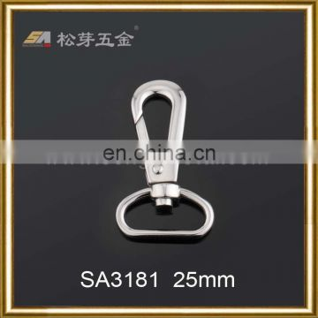 24K gold plated metal zinc alloy strong elastic snap hook