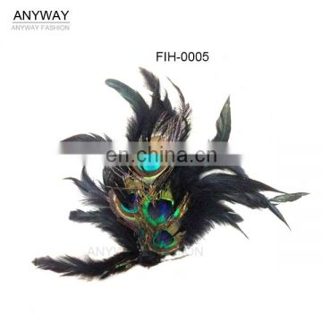 wholesale cheap peacock feather for brooch design