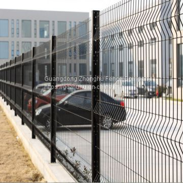 6ft Decorative welded wire mesh panels powder coated Nylofor 3D Fence