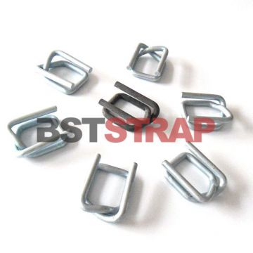 Cargo packing material 19mm buckle Strap Galvanized Cord Strapping Wire Buckle Steel Buckles