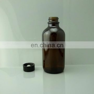 Essential oil 4 oz amber glass bottle with black cap