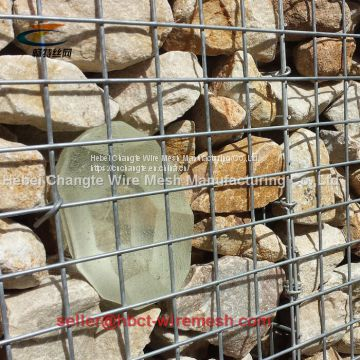 Hot Dipped Galvanized  Low Carbon Steel Wire Material Welded Gabion Box
