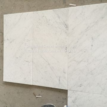 Italy Carrara C white marble top 1 slabs, honed tiles