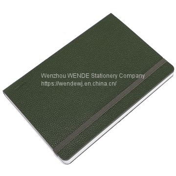 Best Selling Cheap Notebook 3 Color Available Soft Cover  EP-ITALIAN PU Leather With elastic band A5 Diary