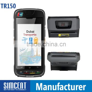 barcode scanner printer 3G NFC WIFI android POS wireless card reader