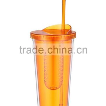 6f5abfcf3db Double-wall 24oz plastic tumbler cup with straw and fruit infuser best  selling Amazon thermo mugs of tumbler cup&jar from China Suppliers -  106487995