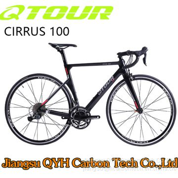 QTOUR Cirrus 300 Road Bicycle series 22 speed carbon road Bicycle 700C China OEM carbon bicycle C brake