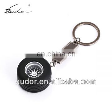 Rubber and Metal Keychain, Auto Parts Keychain, Tyre Keychain