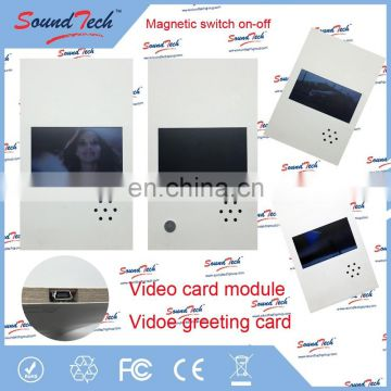 Whole world Regional Feature and Greeting Card Card Type Video Brochure, video boxes for brochures