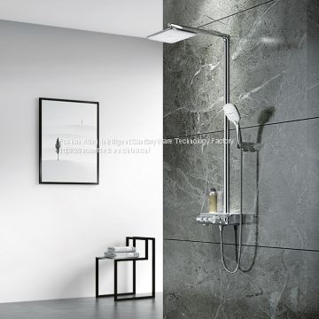 2018 NEW 3 functions thermostatic rain shower  AT-H005A chrome and golden colour
