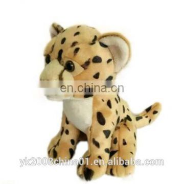 Simulation mini assorted stuffed plush jungle animal wild white tiger/lion/leopard toys set