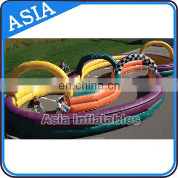 Sport game inflatable toy zorb ball Go Kart race track