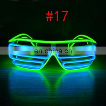 Hot designs of Shutter el wire glasses with double color