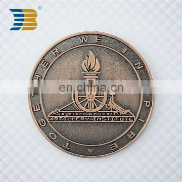 wholesale embossed custom souvenir metal coins for lucky gift