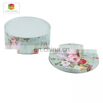 round cookies tin box