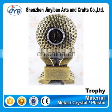 Best selling trophy designs resin golf ball trophy