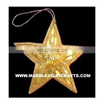 Beaded Embroidery Christmas Star