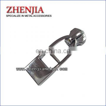 metal zipper logo puller with slider