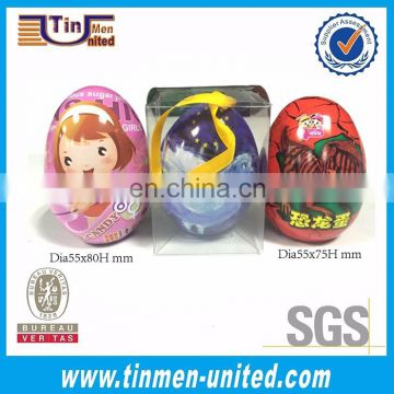 2017 hot selling Easter tin can / thin chocolate metal tin box / Christmas candy metal tin