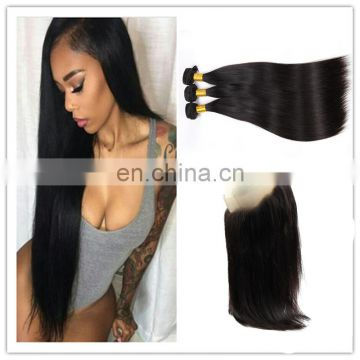 wholesale 8a grade human hair frontal with bundles peruvian virgin hair
