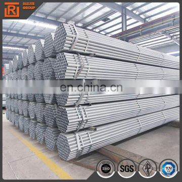Q235 scaffolding material gi pipe, pre-galvanized round steel pipes or tubes
