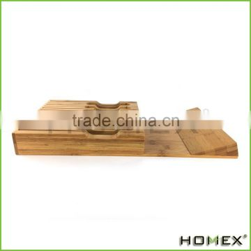 In-Drawer Bamboo Knife Block without Knives Homex BSCI/Factory