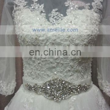 Ball Gown 3/4Sleeves Made Designer Lace Wedding Dress