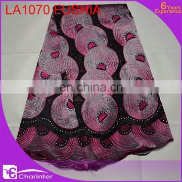 big voile lace african fashion lace fabric charinter lace swiss voile big lace african wedding lace fabric LA1069 brown