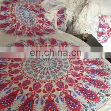Fashional design Customized Reactive printing microfiber Round Beach Towel
