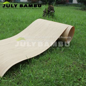 0.5mm Bamboo Caramel Veneer for wall, Bamboo Wood Veneer for Sale