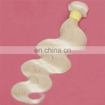 Quality blonde color body wave peruvian hair