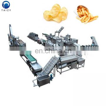 Potato chips production line potato washing and peeling machine