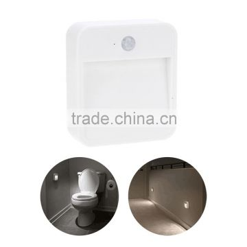 Led Motion Light Wireless Sensor LED Night Light Wall Light Lamp White Battery Powered for Closet Stairs Bedroom Cabinet