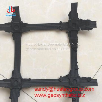 Steel plastic geogrid with high strength