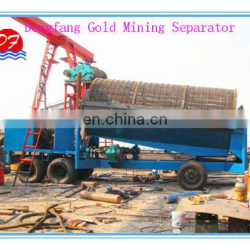 Dry land gold selecting equipment