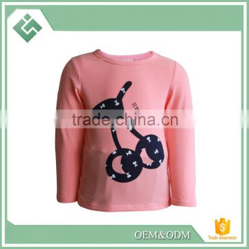 White 2-6Y 2015 fashion design child t shirts nova kids wear cheap baby girl flower t shirts blouses