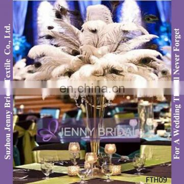 FTH02 Wedding Table Decoration White Artificial Ostrich Feathers