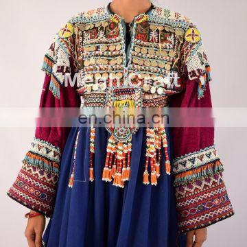 1d74f598b9 ... Vintage Afghani gypsy dress - Handmade beaded Tassels -Vintage bohemian  full skirt - Kuchi Dress