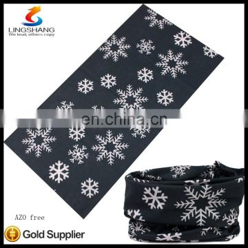 2016 hot new style 100%polyester necklace fashion elastic outdoor sports bandana scarf
