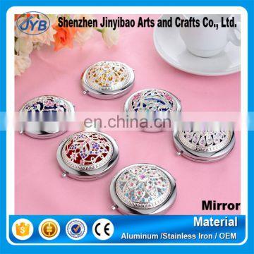 wedding decoration mirrors vintage silver plating compact mirror